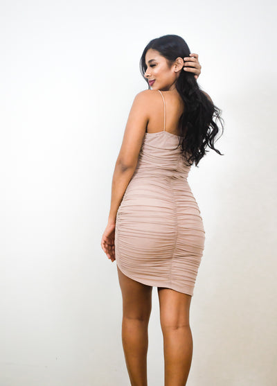A Night To Remember Ruched Mini Dress