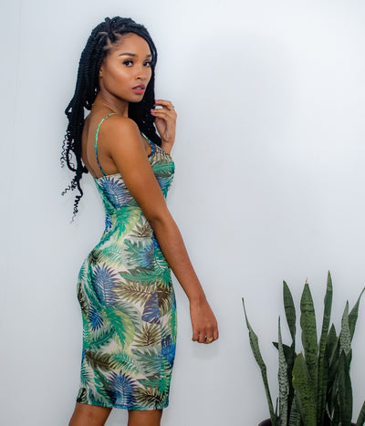 COPPING TROPICS MIDI DRESS