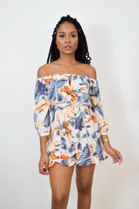 Back Again Floral Romper
