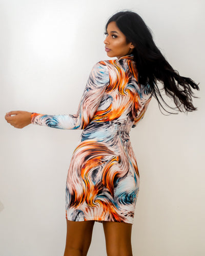 MISS JUPITER MIDI DRESS