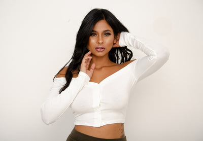 Blaire Crop Top - White
