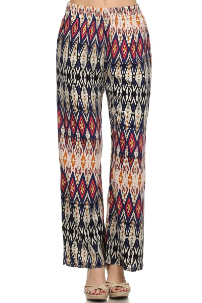 FIESTA PALAZZO PANTS TOO MANY TIMES WAIST PANTS