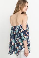 WHAT'S MY NAME FLORAL PRINT OFF THE SHOULDER TOP