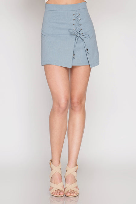 FX LACE UP MINI SKIRT
