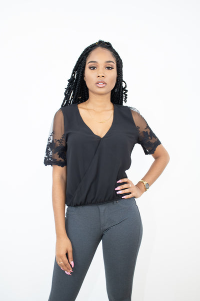 Mina Crotchet Surplice Top