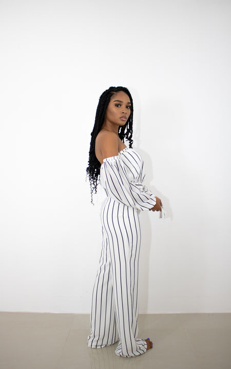 CAROLINE OFF SHOULDER JUMPSUIT