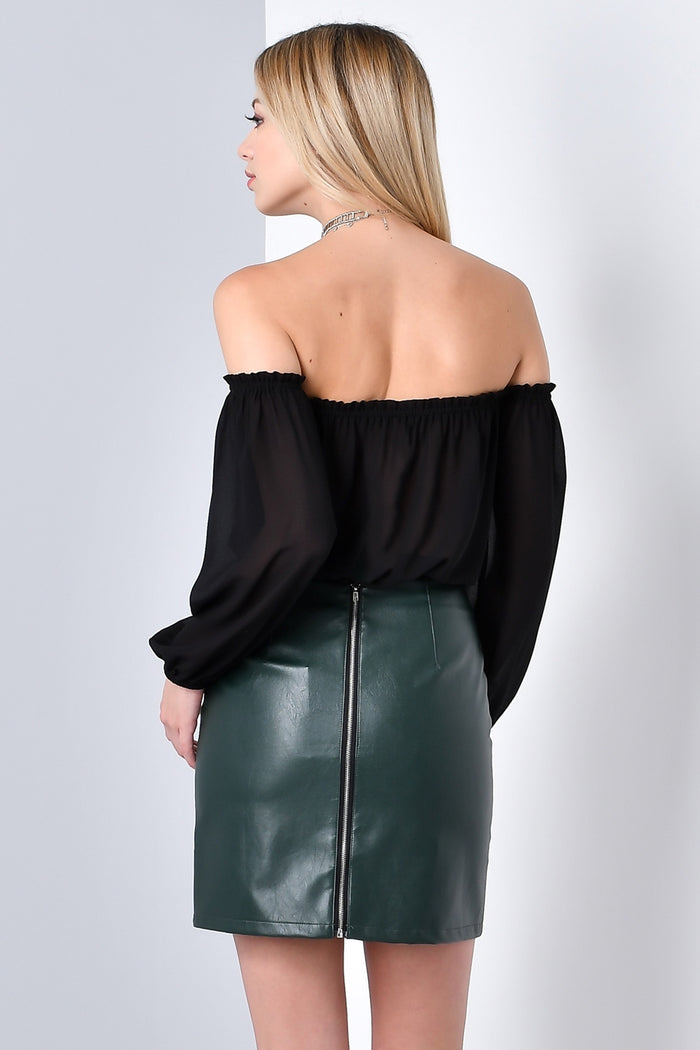UP TO YOU OFF SHOULDER CROP TOP