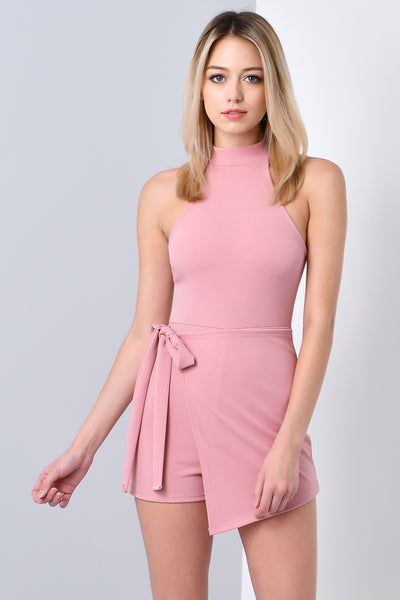 PICTURE PERFECT MOCK NECK ROMPER