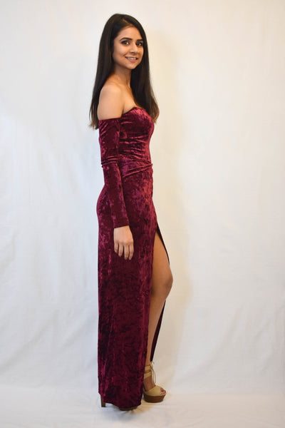 LATE NIGHT VELVET MAXI DRESS