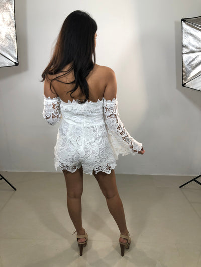 NAVANA LACE LONG SLEEVE ROMPER