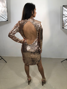 NEVER LOOK BACK MINI DRESS
