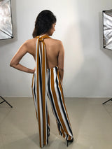 CANVAS MULTI STRIPE JUMPSUIT