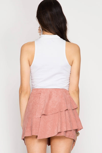 STEAMY SUEDE MINI SKIRT