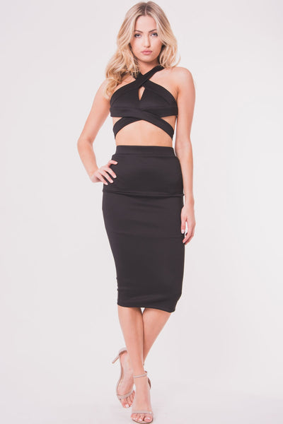 OH HIGH WAIST MIDI SKIRT