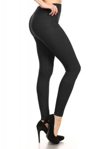 JUST YOU AND ME TWILL KNIT LEGGING (BLACK)