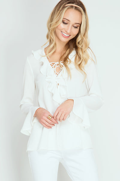SO FLARE SLEEVE TOP