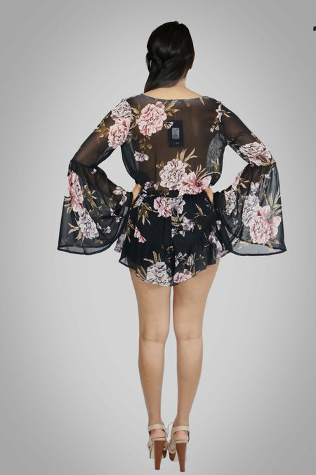 ON ANOTHER LEVEL FLORAL ROMPER