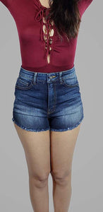 MISSING LOVE HIGH RISE DENIM SHORTS