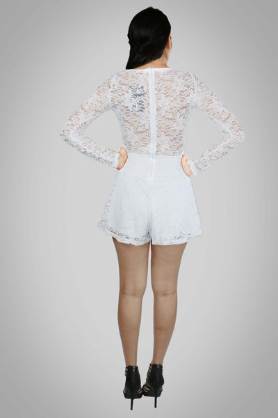 LOVE THE WAY YOU LIE LACE ROMPER