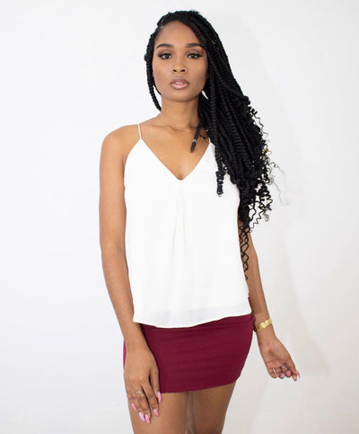 ON THE POINT MINI SKIRT (WINE)