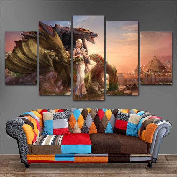 Mother and Dragon Canvas Painting