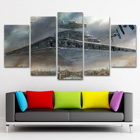 SW Ship City Canvas Painting