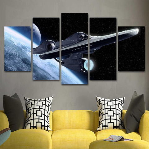 Star Trek Shipspace 1 Canvas Painting