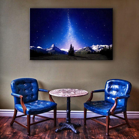 illuminated canvas wall art