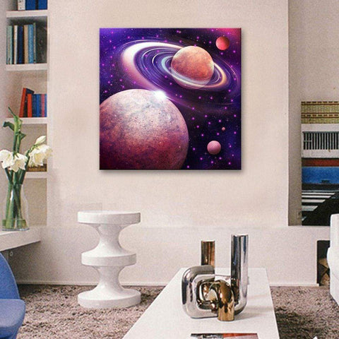 twinkling led canvas wall art