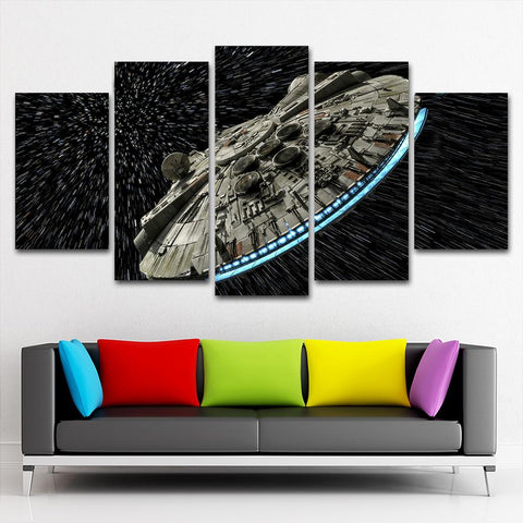 SW Spaceship Blue2r Canvas Painting