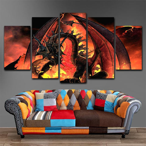 Dragons Fire Canvas Painting