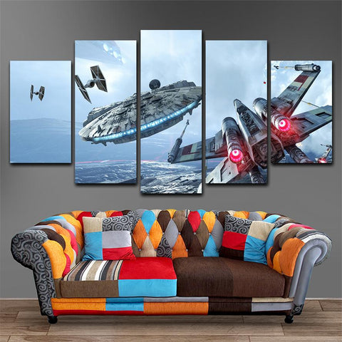 Star War Ufo Canvas Painting