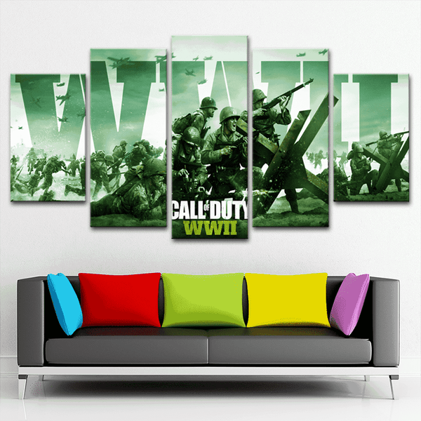 Call of duty 5 Piece Canvas - smileycool