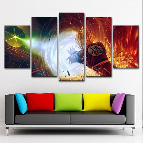 dragonball kamekame ha Canvas Painting