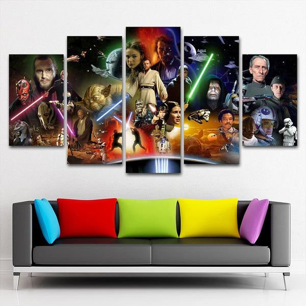 Starwars All Canvas Painting