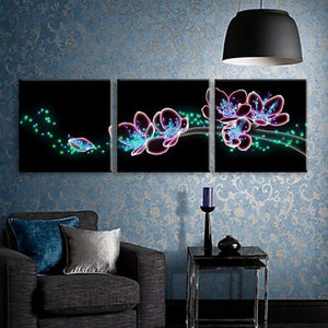 led canvas christmas wall art
