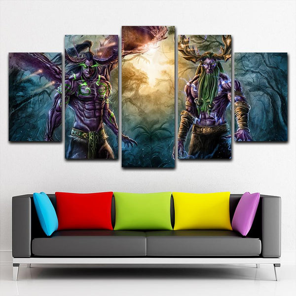World Of Warcraft Game Canvas Painting