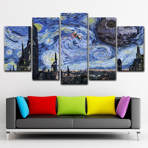 StarWars Starry Night Canvas Painting