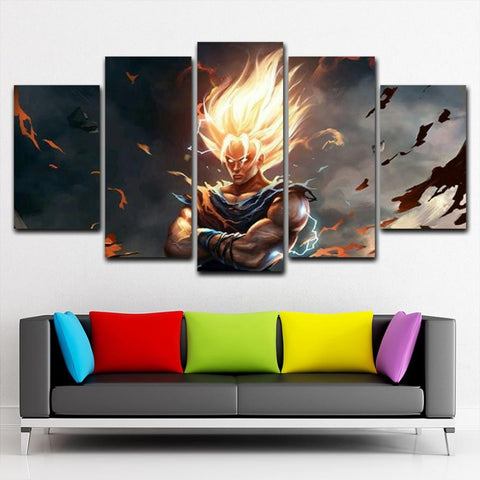 DragonBalls Songoku Saiyan Canvas Painting