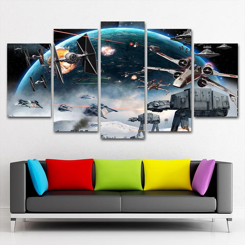 Star War Space Canvas Painting