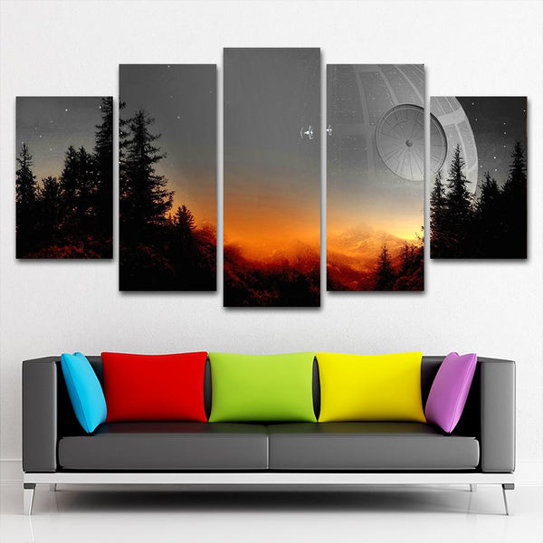 Star Wars Tree Canvas Painting