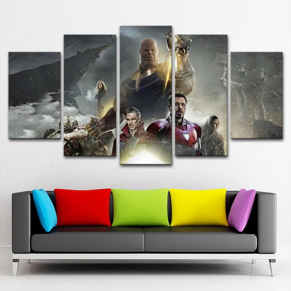Marvelous Avengers Infinity War Home Decor HD Canvas Print Picture Wall Art Painting  Thanos