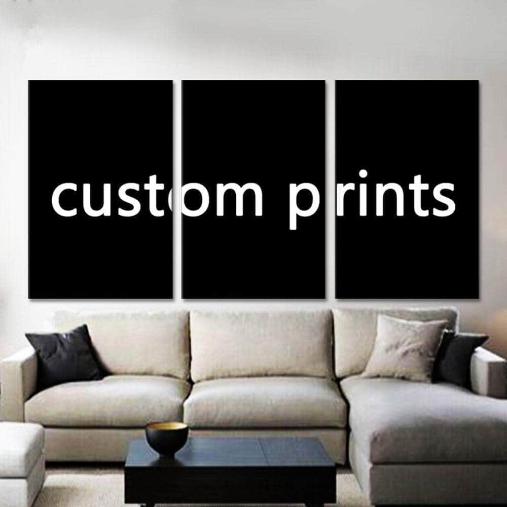 Custom Made Canvas Wall Art Picture Framework 3 Pieces Customized Painting Modern Living Room Decorative