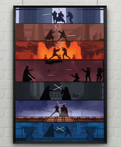 star wars lightsaber duels Poster