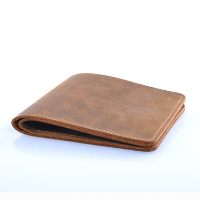 Vintage Genuine Leather Mens Wallet Thin - Handmade Leather