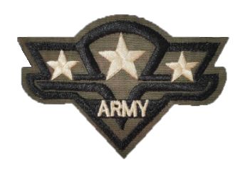 Patch Embroidered - Lieutenant General - Army Paratrooper Regiment