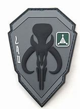 Patch PVC - Mandalorian Bounty Hunter Grey