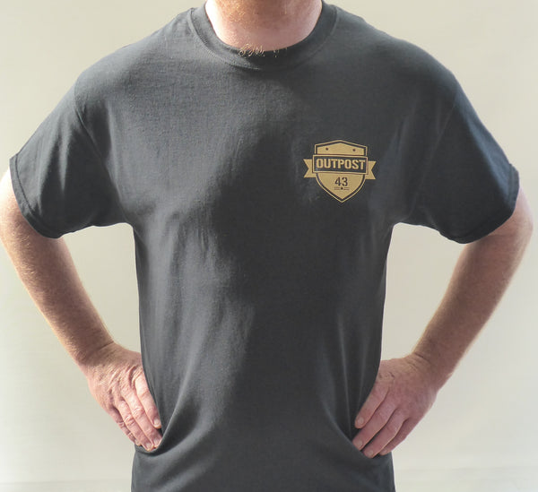Outpost 43/OP Army T-Shirt Black/Gold