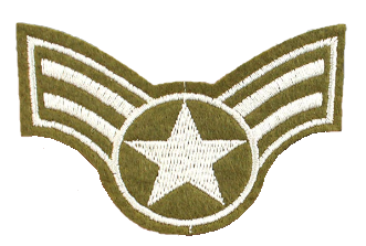 Patch Embroidered - USAF Airman 1st Class E3