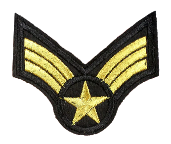 Patch Embroidered - USAF Senior Airman E4